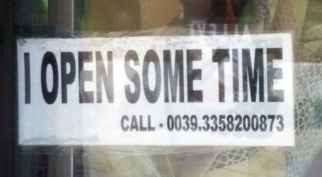 i open some time